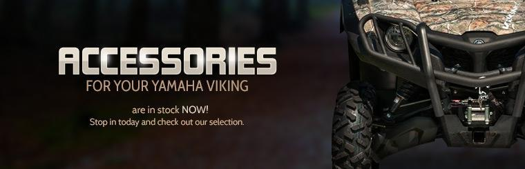 Accessories for your Yamaha Viking are in stock now! Stop in today and check out our selection.