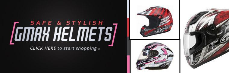 GMAX Helmets: Click here to start shopping.