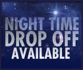 Night time drop off available.