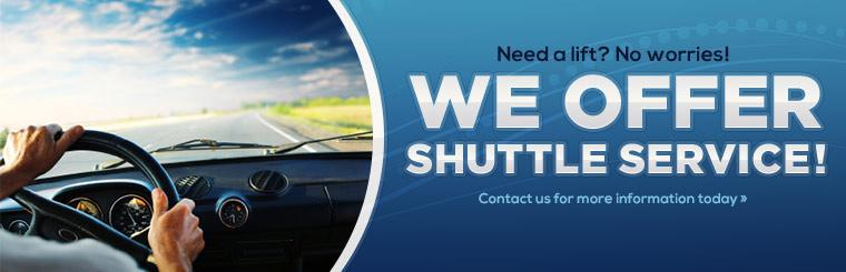 Need a lift? No worries! We offer shuttle service! Click here to contact us for more information.