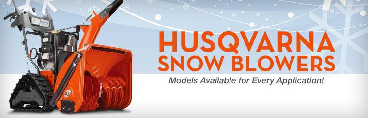 Husqvarna Snow Blowers: We have models available for every application!