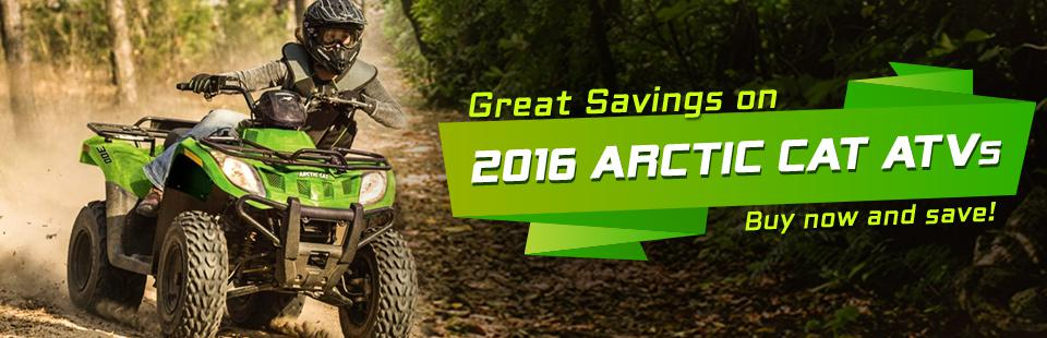 Great Savings on 2016 Arctic Cat ATVs: Buy now and save!