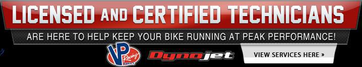 Licensed and certified technicians are here to help keep your bike running at peak performance!