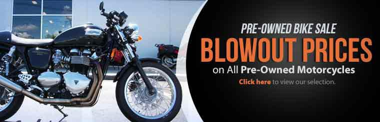 Pre-Owned Bike Sale: Click here to view our selection.