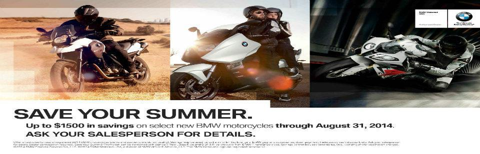 Up To $1,500 is Savings On New BMW Motorcycles