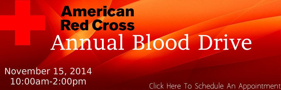 Annual Blood Drive (Click To Schedule Your Appointment)