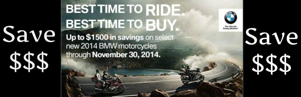 Save Up To $1,500 On A New BMW Motorcycle