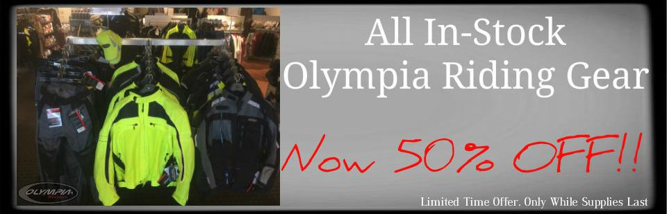 All In-Stock Olympia Riding Gear Now 50% OFF