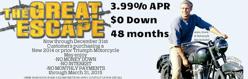 The Great Escape (3.99% APR, 0 Down, 48 Months) Click Here For Details