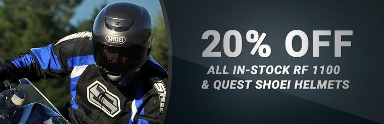 20% Off Select Shoei Helmets