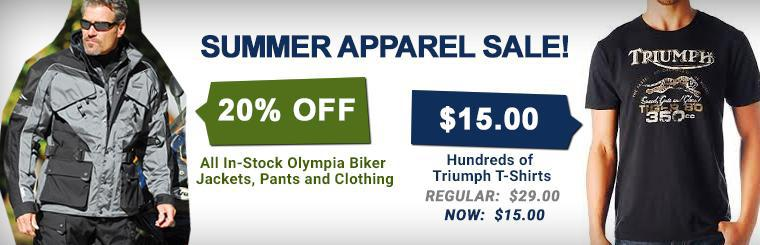 Summer Apparel Sale - Triumph and Olympia