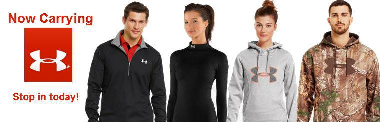 Now carrying Under Armour shirts, pants, sweatshirts, hats