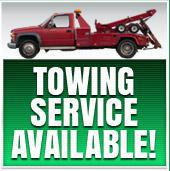 Towing Service Available!
