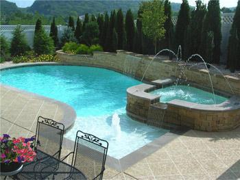 Custom Pool by West Meade Pools