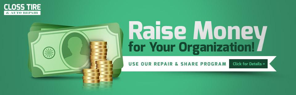 Use our Repair & Share Program to raise money for your organization!
