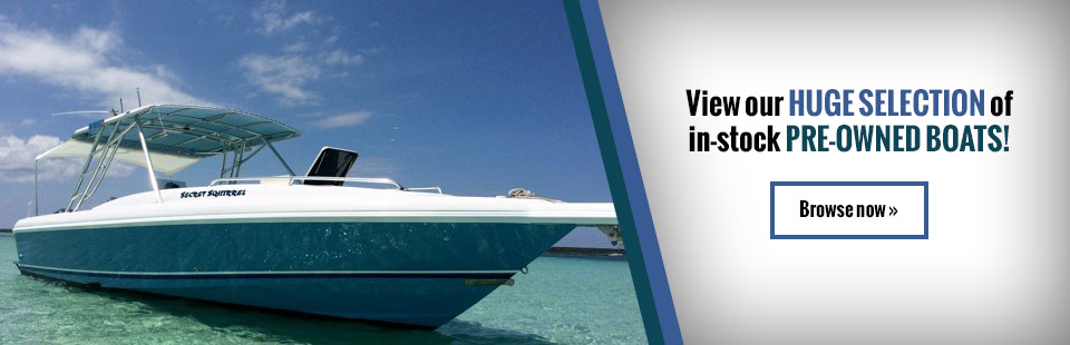 Click here to view our huge selection of in-stock pre-owned boats!