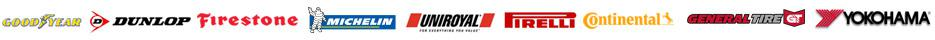 We carry products from Goodyear, Dunlop, Firestone, Michelin®, Uniroyal®, Pirelli, Continental, General, and Yokohama.
