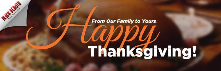 From our family to yours, happy Thanksgiving!