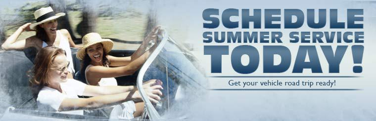 Schedule summer service today! Get your vehicle road trip ready!