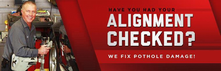 We fix pothole damage! Click here for more details.