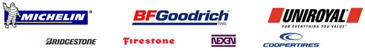 We proudly carry Michelin®, BFGoodrich®, Uniroyal®, Bridgestone, Firestone, Nexen, and Cooper.