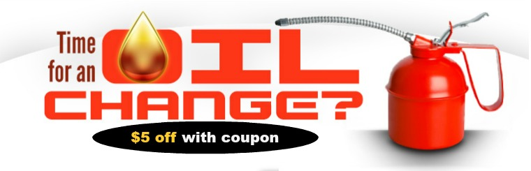 $5 off your oil change with coupon from Irmo Tire