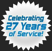 Celebrating 27 Years of Service.