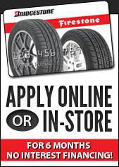 Apply online or in-store for 6 months no-interest financing!