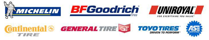 We carry products from Michelin®, BFGoodrich®, Uniroyal®, Continental, General, and Toyo. Our technicians are ASE certified.