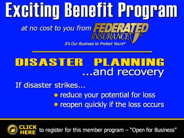 Exciting Benefit Program From Federated Insurance