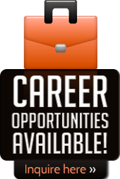 Career opportunities available! Inquire here.