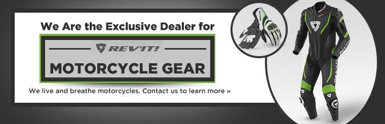 We are the exclusive dealer for REV'IT! motorcycle gear! Contact us to learn more.