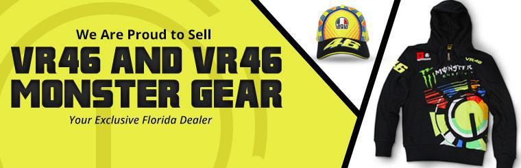 We are proud to sell VR46 and VR46 Monster gear! Contact us for details.
