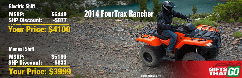 2014 FourTrax Rancher -- Manual or Electric Shift!