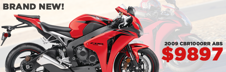 BRAND NEW 2009 CBR1000RR ABS MODELS. JUST A FEW LEFT AT SOUTHERN HONDA! WE CAN HELP YOU GET FINANCING ON ANY SPORTBIKE!