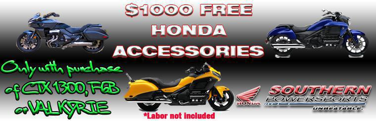 $1000 FREE Honda Accessories with Purchase!!