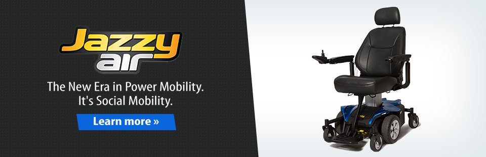 Jazzy Air is the new era in power mobility! Click here for details.