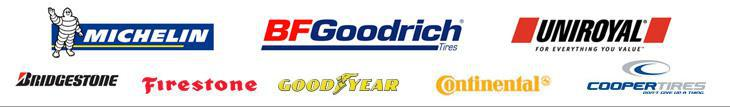 We proudly carry products from Michelin®, BFGoodrich®, Uniroyal®, Bridgestone, Firestone, Goodyear, Continental, and Cooper.