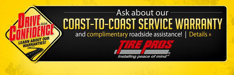 Click here for more information about our Coast-to-Coast Service Warranty and Complimentary Roadside Assistance!