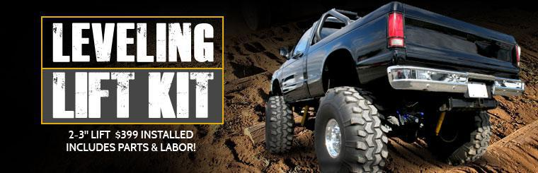 Leveling Lift Kit: $399 Installed