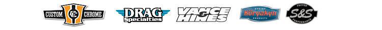 We carry products from Custom Chrome, Drag Specialties, Vance & Hines, Kuryakyn, and S&S.