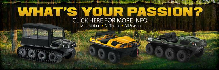 What's your passion? Click here to browse amphibious,