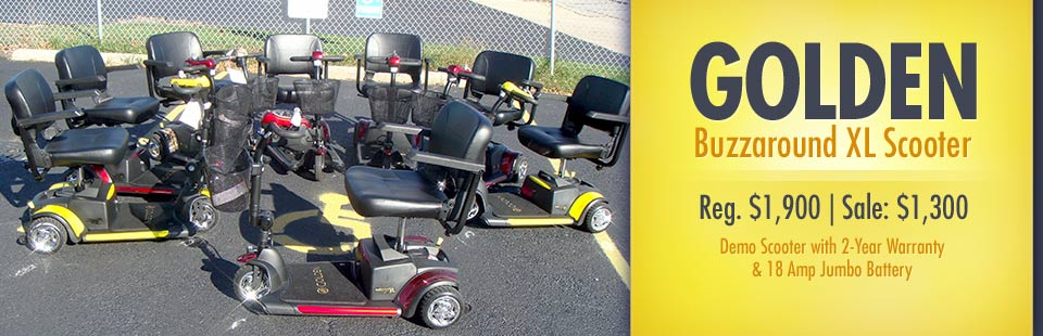 Golden Buzzaround XL Scooter Sale: Now just $1,300! Contact us for details.