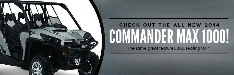 Check out the all-new 2014 Can-Am Commander MAX 1000!