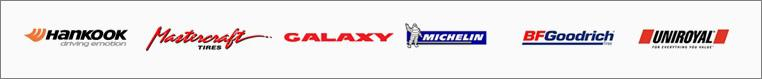 We proudly carry products from Hankook, Mastercraft, Galaxy, Michelin, BF Goodrich and Uniroyal.