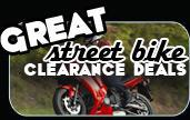 Great street bike clearance deals
