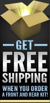 Get free shipping when you order a front and rear kit!