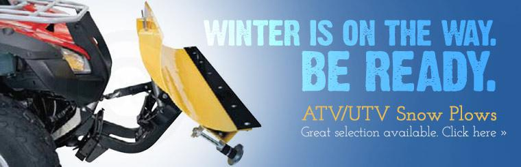Winter is on the way. Be ready with ATV/UTV snow plows. Click here to view our great selection.