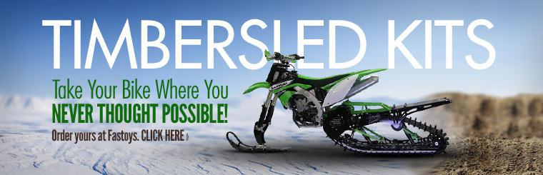Take your bike where you never thought possible with Timbersled kits. Click here to order yours.