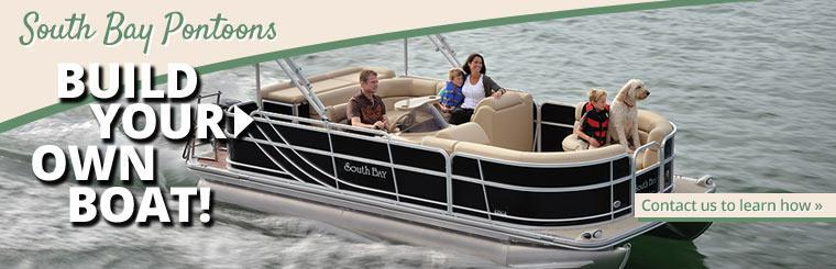 Build your own boat with South Boat pontoons! Contact us to learn how.
